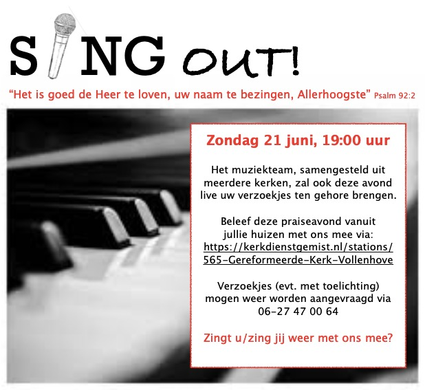 21 juni: SING OUT!